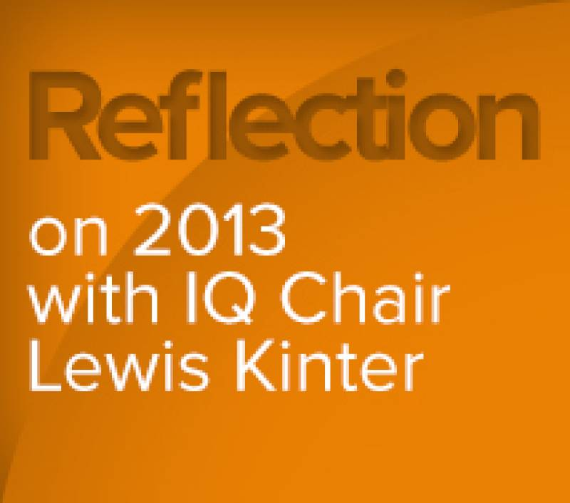 A Chair's Reflection on 2013