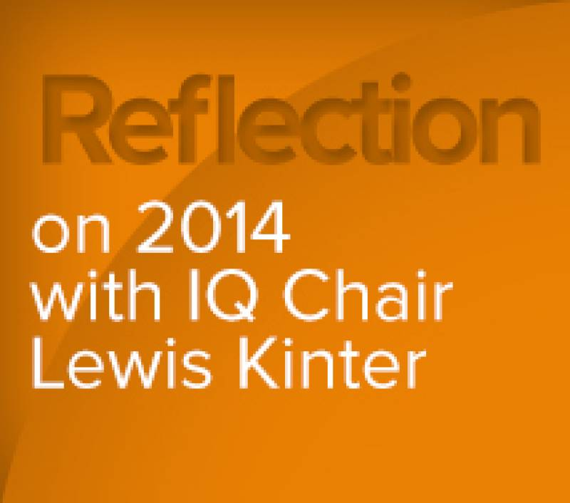 A Chair's Reflection on 2014